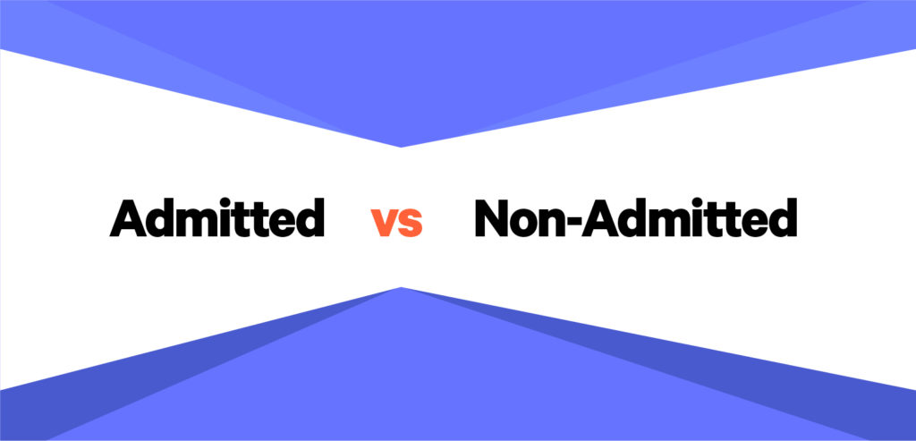 admitted vs non admitted