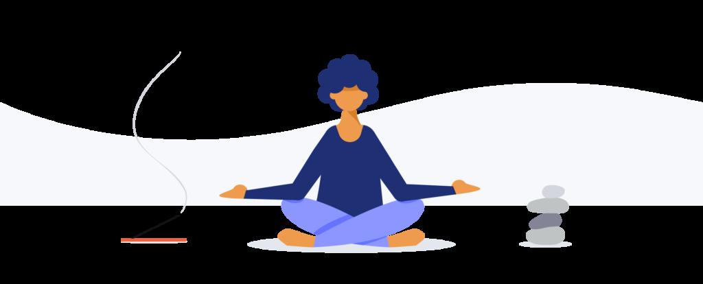 meditating illustration